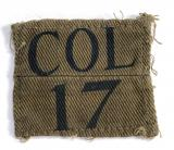 COL/17 Bemondsey Bn City of London WW2 Home Guard formation sign