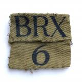 BRX / 6 WW2 Home Guard cloth formation sign / combination